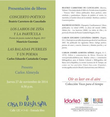 CASASILVA PRESENTACION LIBROS 2