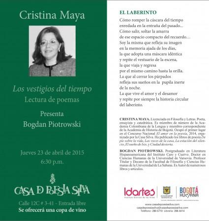 Cristina Maya Evento