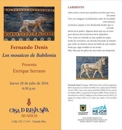 28 de julio - Los mosaicos de babilonia- Dennis